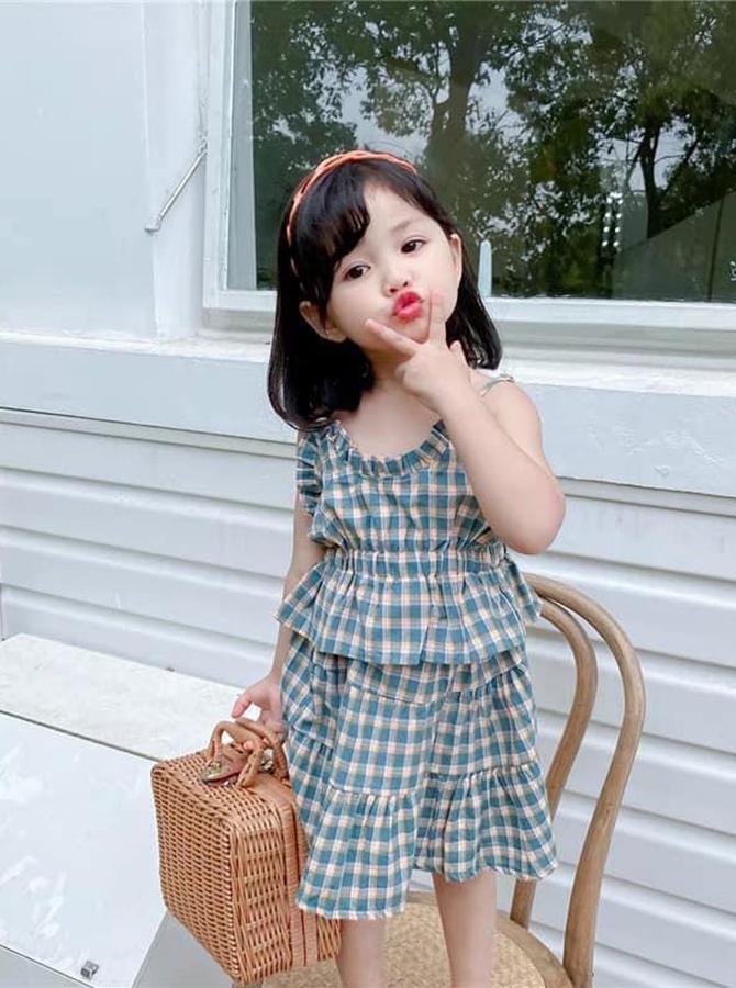 U0096 - bộ váy áo dây bèo  - size nhỏ (29-08-2021)