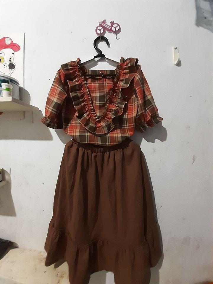 30020 - Bộ Áo bèo + Chân váy bèo / Đào Đức