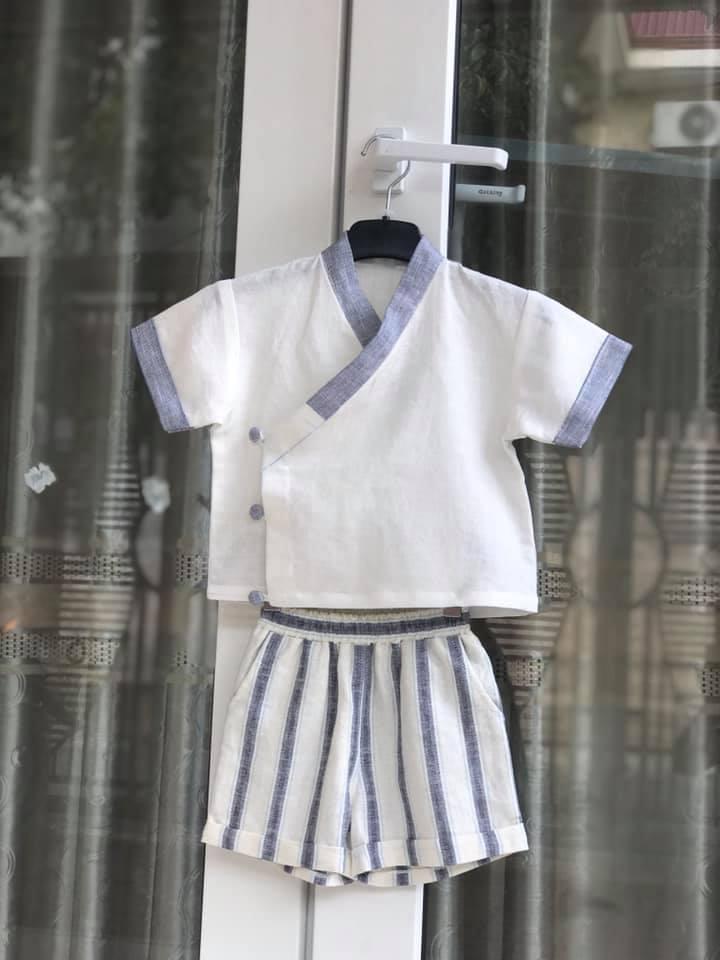 30050 - Bộ Áo vạt đắp, Quần short / Đào Đức
