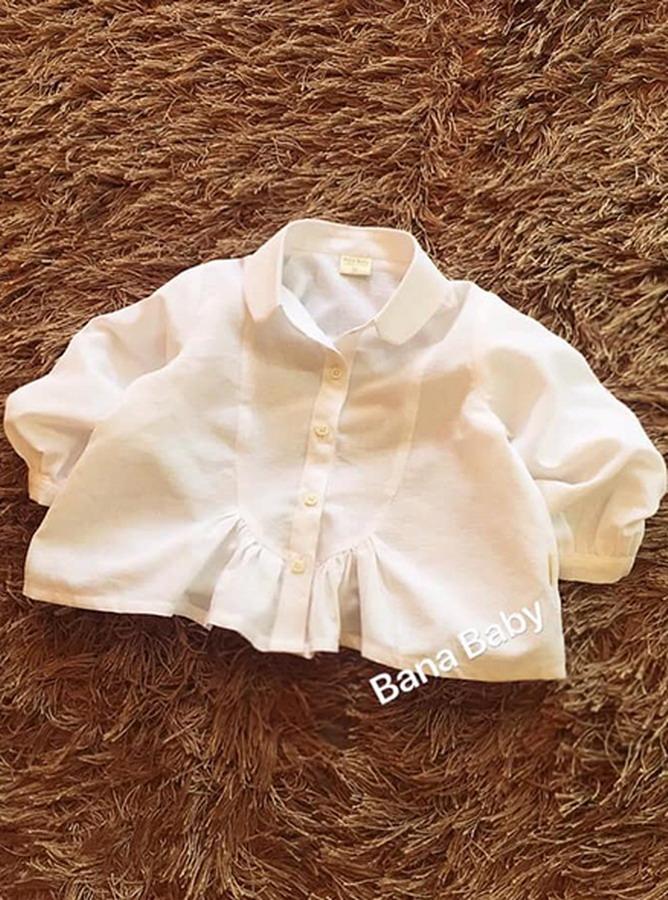 30028 - Áo tay lửng Nhún bèo Babydoll - Kid (26-07-2020)