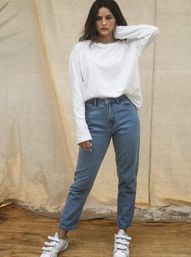 PC018 - Bộ áo phông, quần jean boyfriend