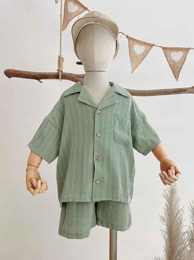 DC038 - Bộ Pyjama ngắn - bé trai (20-08-2020)