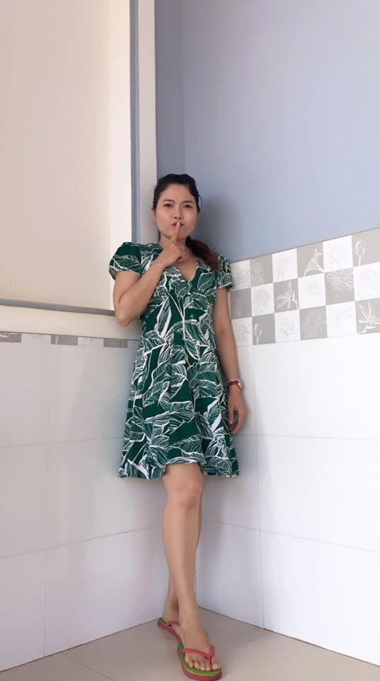 DC008 - Đầm Cổ bẻ Vạt đắp - Women / Đào Đức