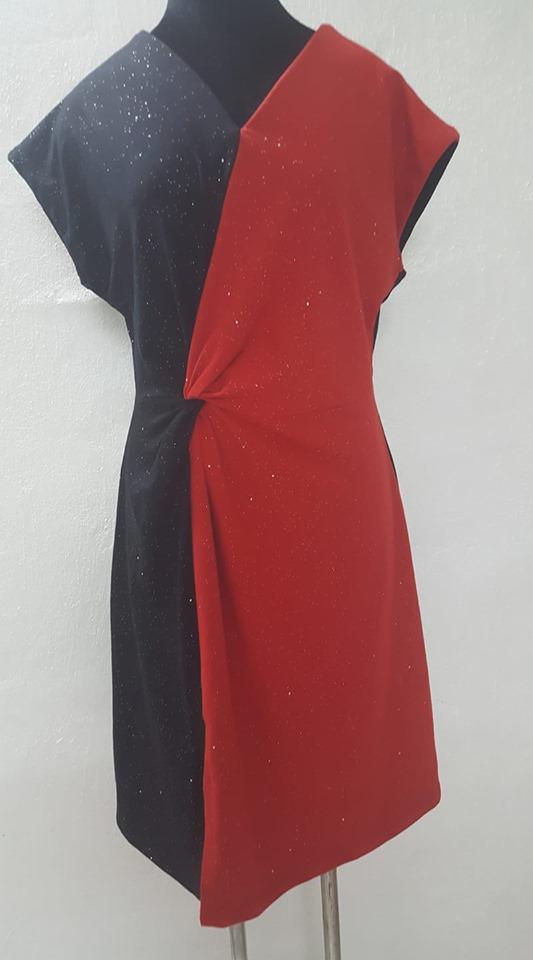 DC024 - Đầm xoắn eo lệch / Phạm Ngân