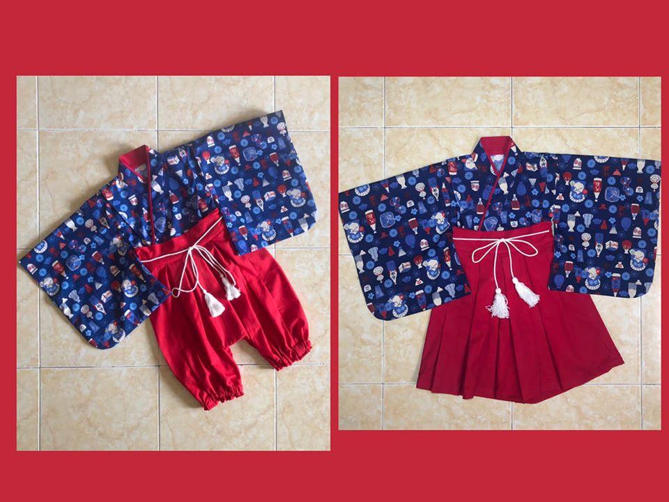 DC025 - Bộ Hakama - quần váy / Đào Đức