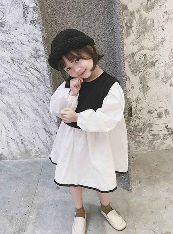 KR058 - Đầm liền giả áo khoác rời  (29-10-2019)