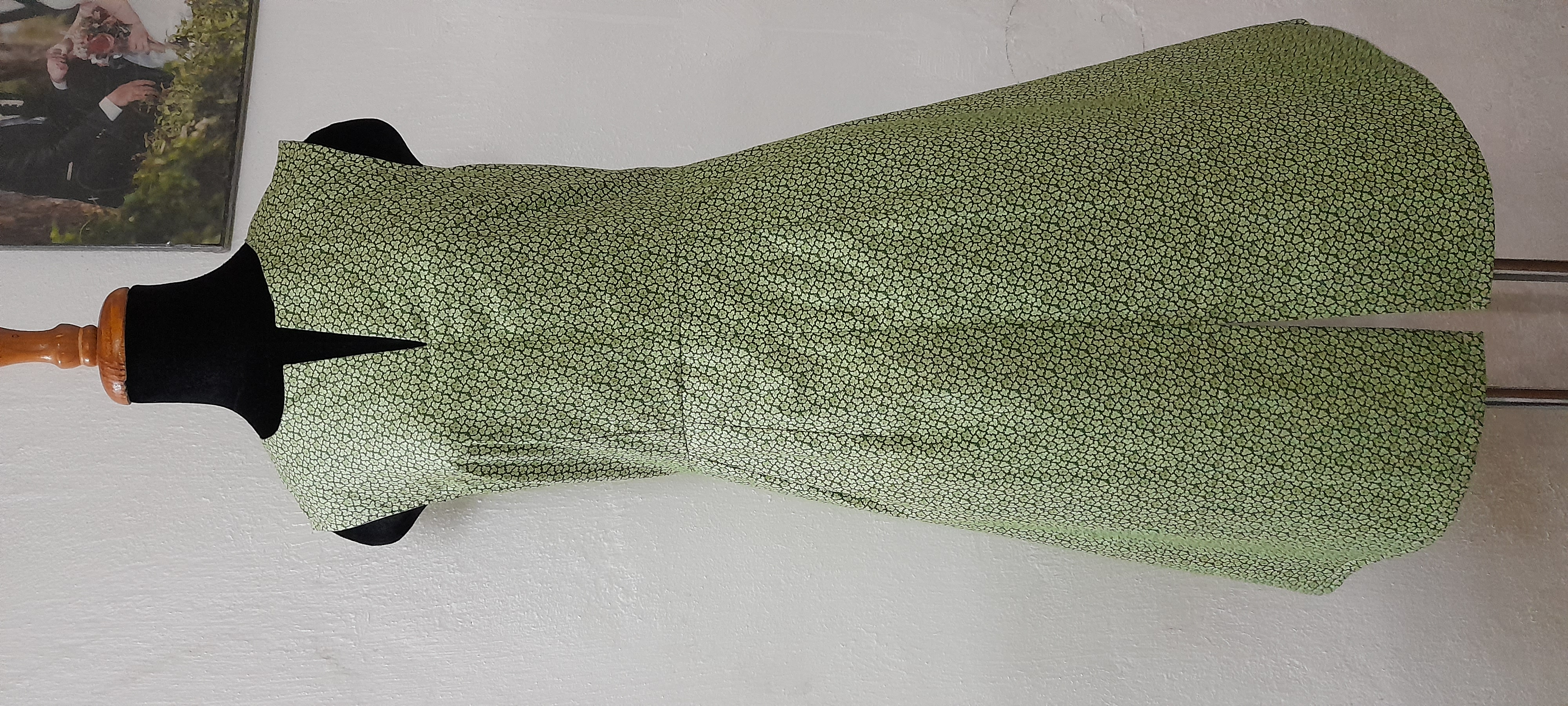 30031 - Đầm midi cổ Henley / Phạm Ngân