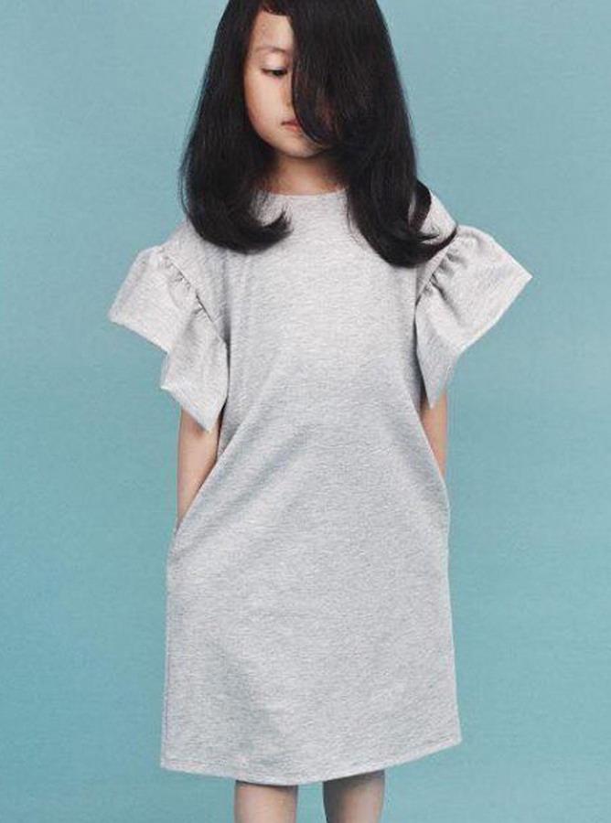 KR041 -Đầm suông Vai chồm Bèo tay (12-08-2018)