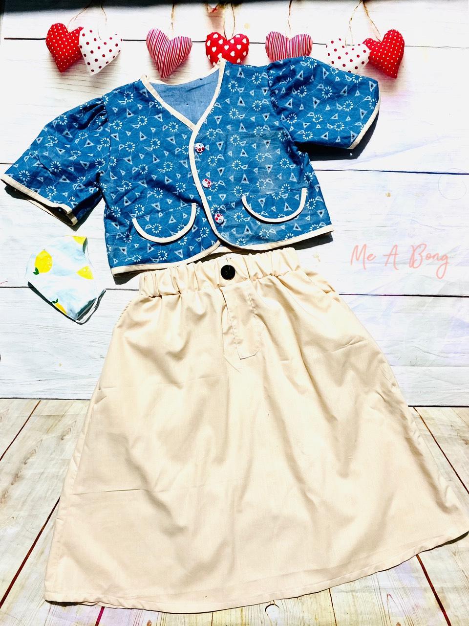 30100 - Sơmi lửng + Chân váy có túi - size nhỏ / An Coong
